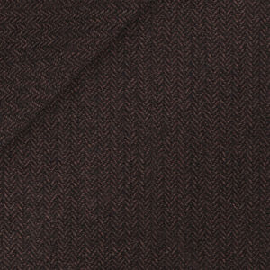 Blazer Braun Fischgratköper Wolle Baumwolle