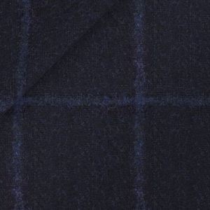 Jacke Blau Überkaro Alpaka