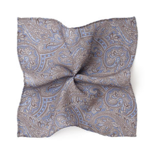 Paisley Light Blue Pocket square