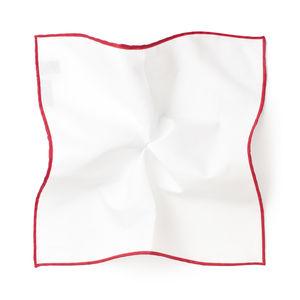 White Red Pocket square