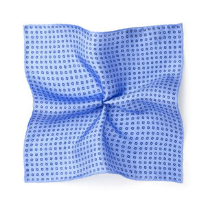 Microdesign Light Blue Silk Pocket square