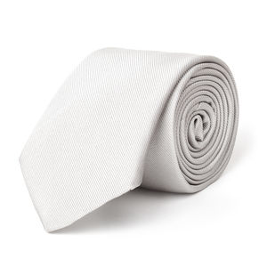 Ceremony Silver Necktie