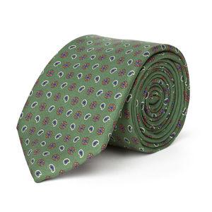Necktie Green Cashmere Silk