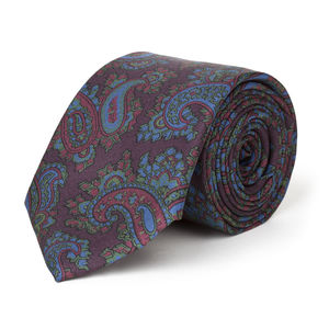 Cravate Paisley Bordeaux Soie