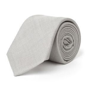 Krawatte Grau Pfauenaugenmuster