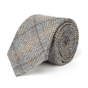 Necktie Grey Prince of Wales Wool