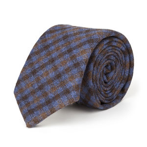 Purple Check Wool Necktie