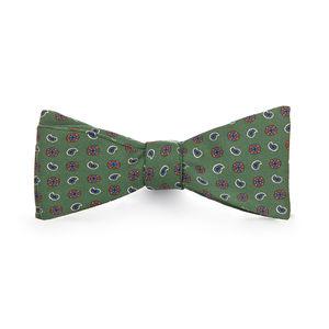 Green Cashmere Silk Bowtie