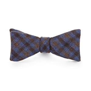 Purple Check Wool Bowtie
