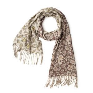 Paisley Brown Wool Scarf