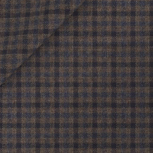 Brown Micro Check Wool Trousers