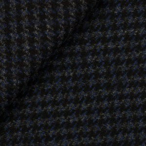 Cappotto Blu Pied de Poule Lana Cashmere