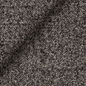 Grey Double Herringbone Coat