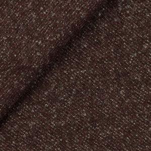 Burgundy Melange Wool Coat