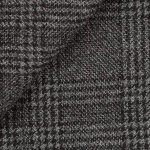 Grey Prince of Wales Wool Coat