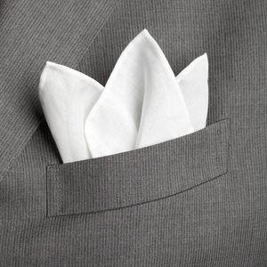 Pochette Blanc Coton Lin