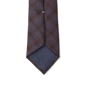 Necktie Blue Check Wool