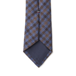 Necktie Purple Check Wool