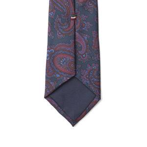 Necktie Paisley Blue Silk