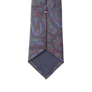 Cravate Paisley Bordeaux Soie