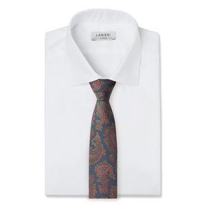 Necktie Paisley Green Silk