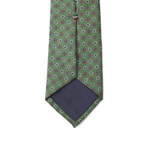 Krawatte Grün Kaschmir Seide