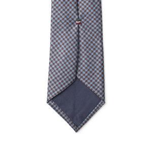 Necktie Brown Houndstooth Wool