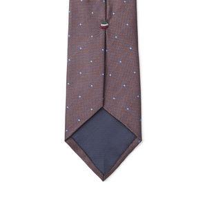 Krawatte Mikro-Dessin Braun