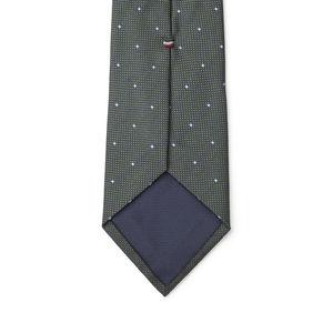 Krawatte Mikro-Dessin Grün