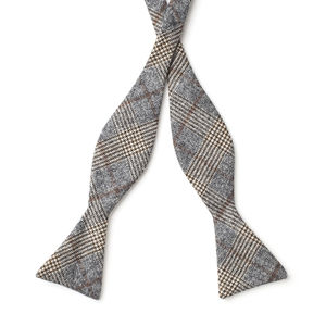 Bowtie Grey Prince of Wales Wool