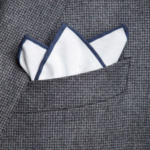 Pocket square White Blue