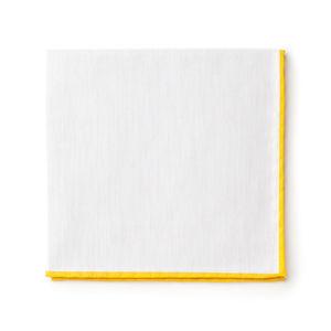 Pocket square White Giallo