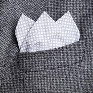 Einstecktuch Kettenmuster Grau