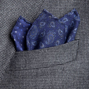 Pochette Cashmere Blu