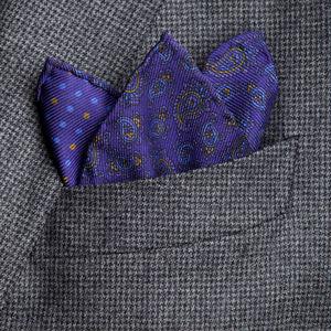Pocket square Cashmere Indigo