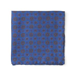 Einstecktuch Vintage Leuchtendblau Seide