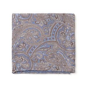 Pocket square Paisley Light Blue