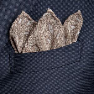 Pañuelos de Bolsillo Paisley Beige