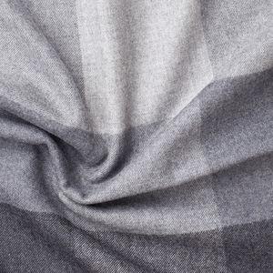 Schal Würfelkaro-Dessin Grau