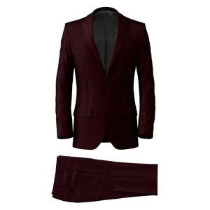 Suit Burgundy Wool