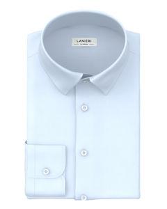 Shirt Sky Blue Micro Stripe