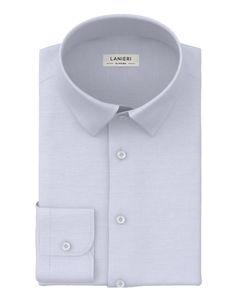 Shirt Light Blue Twill Cotton