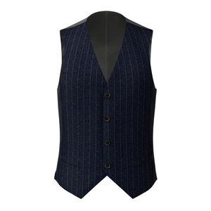 Waistcoat Dublin Blue Pinstripe