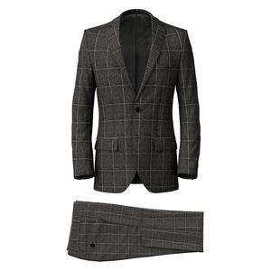 Suit Grey Melange Overchek