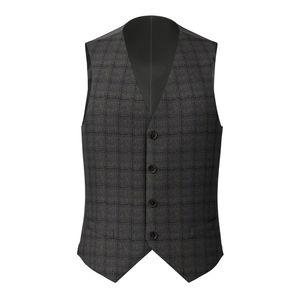 Waistcoat Grey Flannel Check