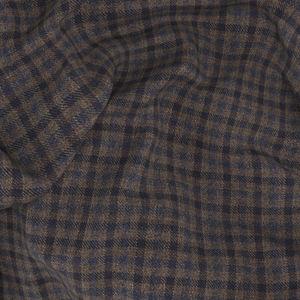 Blazer Braun Mikro-Karo-Dessin Wolle