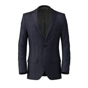 Jacket Melange Blue Check