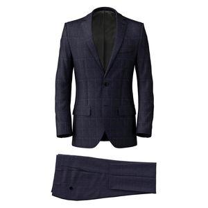 Suit Melange Blue Check
