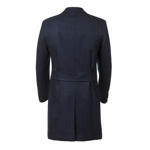 Coat Blue Houndstooth Wool