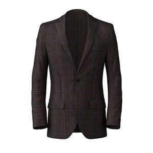 Blazer Tobacco Check Wool